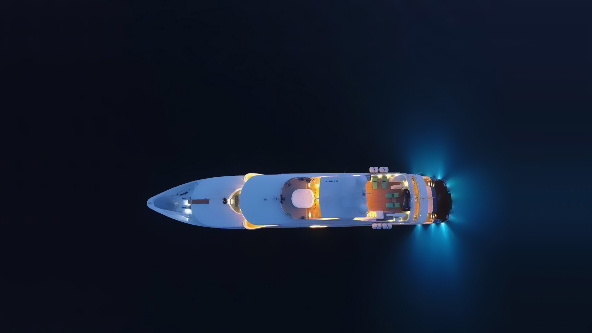 Aerial View Yacht